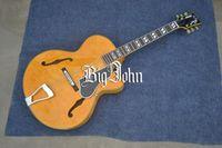 neue akustische akustikgitarren großhandel-Freies Verschiffen neue angekommene hohle F-Lochakustikgitarre in Gelb mit dem Mahagonibody hergestellt in China F-3056