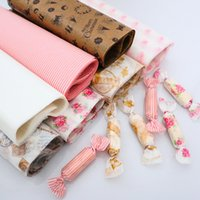 Wholesale Patterned Greaseproof Paper - 50pcs lot A variety of patterns Wax Paper, Food Wrapping Paper, Greaseproof Baking Paper, Soap Packaging Paper