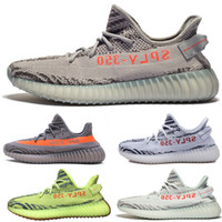 Wholesale Gray Running Shoes - Beluga 2.0 SPLY-350 Boost V2 Beluga2.0 Boost 350 V2 SPLY Running shoes Gray Zebra Bred Triple White Black Semi Frozen