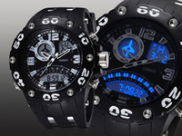 Wholesale Ohsen Led Digital Watches - Famous brand Ohsen digital sport watch mens male White 50M waterproof Led display wristwatch relogio masculino for gift