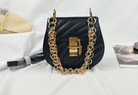 Wholesale Mini Shoulderbag - New new saddel bag women leather fashion handbag shoulderbag with chain classic brand style new in 2017 free shipping genuine leather