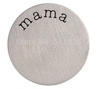 Wholesale Mama Floating Locket Charm - Wholesale Price ! 20PCS lot Stainless Steel MAMA Floating Window Plates For 30mm Glass Living Charm Locket