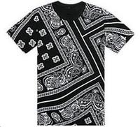Wholesale La Rhude Bandana Shirts - La Rhude Bandana Ktz T-shirts West Coast Flowers Cashew Tees for men Fashion Brand Designer Harajuku Short Sleeve Tees Plus Size 5XL MT010