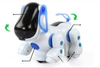 Wholesale Free Educational Music - hot sale Electric dog with light and music caster shook his head and tail children's educational toys wholesale supply Free Shipping