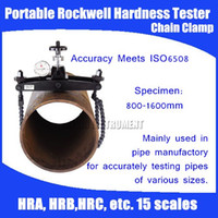 Wholesale Portable Rockwell Tester - Wholesale-Free shipping PHR-64 Chain Clamp Portable Rockwell Hardness Tester Specimen:800-1600mm For testing pipes HRA, HRB, HRC, etc.
