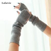 Wholesale Cashmere Gloves Sale - Wholesale-2015 Hot Sale Top Women Men Unisex Fashion High Quality Autumn Winter Knitted Ladies Solid Color Elbow Cashmere Gloves 6 Color
