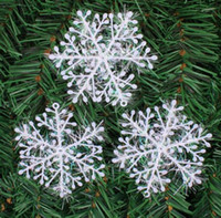 Wholesale Cheap Snowflake Ornaments - cheap 11 cm Foam snowflake Christmas trees Decorations Ornament Xmas Christmas ball Pendants Festival Party Supplies Hanging gift
