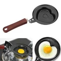Wholesale Wholesale Kitchen Housewares - Wholesale-Cute BBQ Outdoor Heart Shaped Non-stick Egg Fry Frying Fried Pan Omelette Pancake Housewares Kitchen Cauldron Cooking Pot