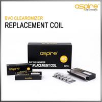 Wholesale Ce5 Coils Ohm - Original Aspire BVC Coil Heads For Aspire BDC Atomizers CE5 CE5S ET ETS Vivi Nova Mini Vivi Nova BVC Replacement Coils 1.6 1.8 2.1 ohm