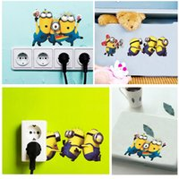 Wholesale Small Stickers Wholesale - 2015 Cartoon Small Minions Despicable Me Removable Wall Sticker DIY Kids Child Room Decor Decal Home Decoration Stickers Wallpaper H11530