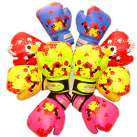 Wholesale protective gear for children resale online - Colorful Baby Girls Boys Children Boxing Gloves Strike Sanda Karate Fight Kids Mitts For Punch Training Dco