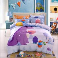 almohadas lindas para las niñas al por mayor-Cute boy girl children kids juegos de cama con 8 piezas de edredón de algodón puro almohada fundas de cama de alta calidad para niños