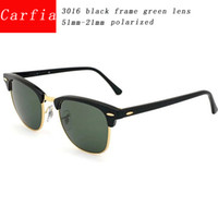 Wholesale Black Frames Glasses - 2016 new arrival carfia 51mm Metal hinge polarized Sunglasses men sun glasses women glasses UV400 51mm unisex brand designer sunglasses