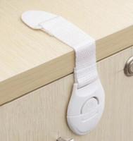 Wholesale Children Safety Cabinet - Child safety lock drawer refrigerator lock baby safety cabinet toilet lock   white