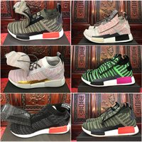 New Arrive NMD TS1 Primeknit Boost Mens Womens Running Shoes trainers Preto Verde cinza Pink gold R1 XR1 Runner Walking Sports Sneakers