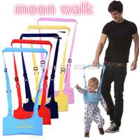 correa de bebé niño pequeño al por mayor-Niño Bebé Seguridad Arnés Caminar Asistente Rein Belt Aprender Walker Walk Aid Correas
