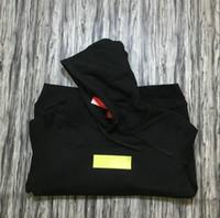 marca de capuz preto venda por atacado-Logotipo da caixa de marca de lã preto com capuz moda bordado carta pullover camisolas venda quente