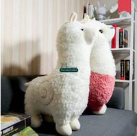Dorimytrader 31''   80cm Lovely Alpaca Toy Large Stuffed Soft Plush Animal Sheep Alpaca Doll 3 Colors Nice Kids Gift Free Shipping DY60916