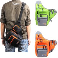Wholesale Lure Men - New Multi-Purpose Waterproof Fishing Bag Waterproof Canvas Carp Fishing Reel Lure Tackle Bag H13980