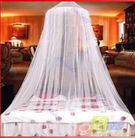 Wholesale Door Canopies - Bed Netting Canopy Mosquito Net Dome Elegent Lace Insect Stopping Net Outdoor 4 Color New Free Shipping