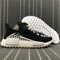 Wholesale H Shoes Men - C H A N E L Pharrell Williams X NMD Human Race Black White Women Men Runing Shoes Sneakers NMD Sneakers Real Boost Shoes Running Shoes