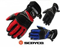 Wholesale Scoyco Gloves Waterproof - Black 450D Nylon gloves SCOYCO MC15 MOTO Motorcycle Racing motorbike Bomber gloves Size M L XL