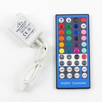 Wholesale Ir Controller For Led Lights - RGBW Controller DC 12V-24V 40Keys IR Remote for SMD 5050 300leds RGBW RGBWW LED Strip Lights