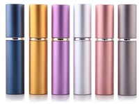 Wholesale Travel Atomiser - smooth Aluminium perfume bottle 5ml Perfume Atomiser Travel bottles fragrance glass scent-bottle