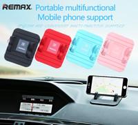 rote zelle handys großhandel-Original REMAX Handyhalter Für das Auto unterstützung navigation halterung unterstützung GPS telefon Handyhalter Outlet Bracker Handy Stand