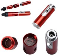 Wholesale herbal lighter for sale - Group buy Click And Burn Lighter Click N Vape Mini Herbal Vaporizer Smoking Pipe Trouch Flame Lighter with Built in Wind Proof Torch Lighter