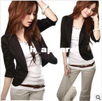 Wholesale U S Jacket - HOT New Women's Sexy One Button Small Suit Jacket women coat 5 size U pick color GJ405
