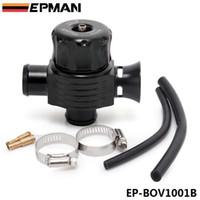 ingrosso valvole di scarico-EPMAN Valvola di scarico a doppia porta universale da 25 mm di alta qualità (NERA) Valvola di scarico della valvola deviatrice EP-BOV1001B
