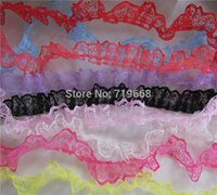 Wholesale Soluble Lace - New Arrival Polyester Lace Tape Embroidery Lace Water Soluble Lace Lace trim Sewing Crafts 23mm 50yards lot 9colors in Stock