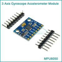 Wholesale Axis Gyroscope Arduino - Wholesale-MPU 6050 3 Axis gyroscope acce lerometer module 3V 5V compatible For Arduino