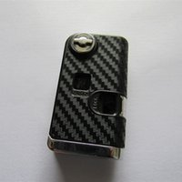 Wholesale Toyota Camry Remote Case - New car modified flip key case for Toyota Camry Prado 2 button folding remote key shell (3D Carbon Fiber Sticker)