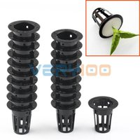 Lotti Mesh Net Pot Cup carrello idroponici Aeroponic pianta Grow Clone Kit Hanging pista ordine $ 18no