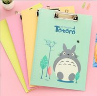 Großhandels-kreative Karikatur Japan Totoro Cat Serie Ordner Board mit Clip / Datei Board / Archivierungs-Produkte Office School Supplies / Einzelhandel
