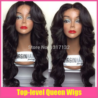 Wholesale best human hair half wigs resale online - 2015 best selling full lace wig body wave by Virgin Human Hair Full lace wig Lace Front Wig With Baby Hair in Stock