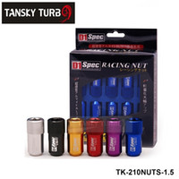Wholesale Wheel Lug Nut Red - Tansky D1 LIGHT WEIGHT WHEEL RACING LUG NUTS P:1.5,L:40mm (20pcs set) Default color is Red TK-210NUTS-1.5