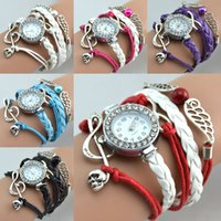 Wholesale Wrist Watch Beads - Hot Selling Infinity Watches Fashion Bracelets Watches Music Beads Wing Charms Wrist Watches Women Quartz Watches Mix Colors Free Shipping