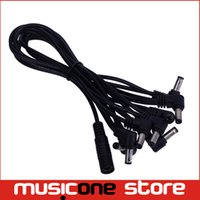 Wholesale Power Ferrite - 2pcs MOEN Daisy Chain 8 Plug without Ferrite High Quality DC8 Way 8 Plug Daisy Chain Power Cable 9V Effect Pedal Guitars Wholesale MU0483