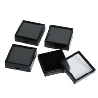 "Wholesale Earrings Tray Display - Wholesale-Free Shipping 35pcs Black Earring Studs,Jewelry Trinket Plastic Display Case Box Showcase Tray,Gift Box 1.18x1.18"" #90472"