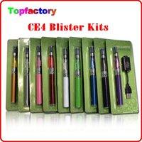 Wholesale Blister Mix - ego CE4 starter kit Blister kits Electronic Cigarette kits 650mah 900mah 100mah battery good quality DHL free Mix order available