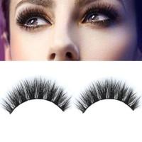 Wholesale Mink Tool - High Quality Mink False Eyelashes makeup 100% Real Mink Natural Thick False Fake Eyelashes Eye Lashes Makeup Extension Beauty Tools