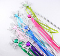 gem supplies 2018 - Wand ribbons streamers Christmas wedding party snowflake gem sticks magic wands confetti party props decoration events favors Supplies