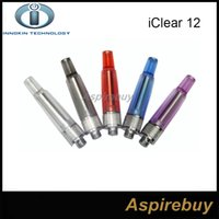 Wholesale Itaste Iclear Clearomizer - Genuine Innokin iClear 12 Dual Coils Clearomizer iClear12 E Cigarette Atomizer Coils Replaceable Fit For iTaste VV V4 EP Battery