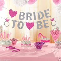 Heart Banner Bride To Be Bridal Bunting Hen Night Party Decoration Ghirlanda Wedding Banner Bridal Shower Foto Puntelli