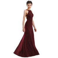Wholesale Custom Made Wine - Sexy Wine Red Backless Prom Dresses Party Evening Formal Gown Dress Spandex Floor Length Custom Made