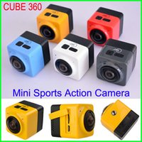 CUBE360 Build-in WIFI Sport Action Camera Panorama CUBE 360 gradi panoramica H.264 VR 1280 * 1042P 28FPS Life Video DV macchina fotografica dell'automobile LIBERA