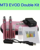 evod mt3 двойной стартовый комплект оптовых-EVOD MT3 комплект двойные комплекты eGo Starter Kit электронная сигарета двойной комплект MT3 ego-T комплекты DHL бесплатная доставка
